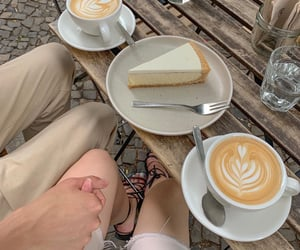 cheesecake, chic, and latte image