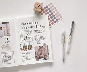 bujo, bullet journal, and art image