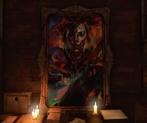 art, candles, and dark image