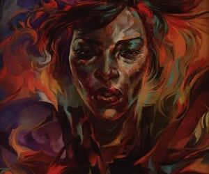 art, fiery, and orange image
