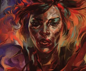 art, fiery, and dishonored image