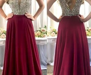 prom dresses, cheap prom dresses, and burgundy prom dress image