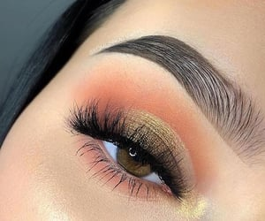 gold, makeup, and maquillaje image
