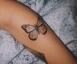 butterfly, girls, and skin image
