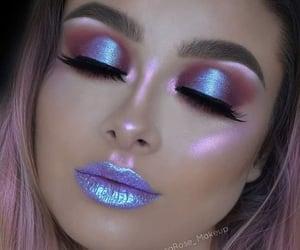 girls, highlights, and make up image