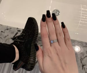 aesthetic, black nails, and cartier image