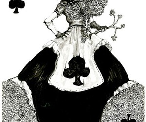 art, queen of hearts, and cards image