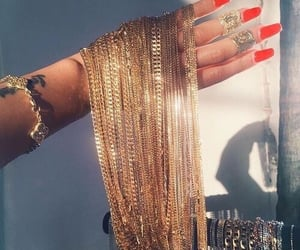 gold, nails, and jewelry image