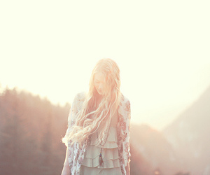 blonde, sun, and girl image