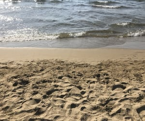 beach, love it, and sand image