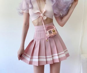 kawaii, outfit, and pink image