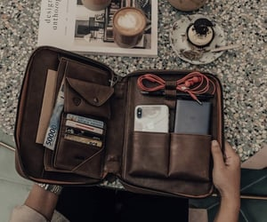 bags, coffee, and cupcakes image