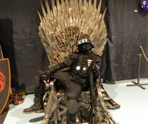 badass, throne, and black image