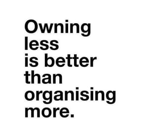 less, organize, and words image