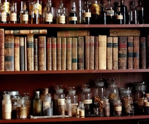 apothecary, books, and potions image