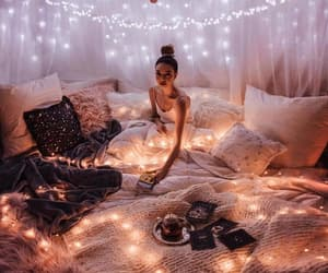light, bedroom, and decor image