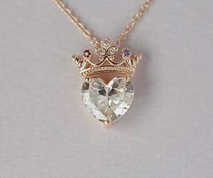 jewelry, heart, and necklace image