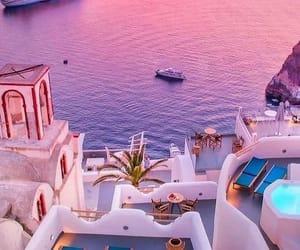 sea, Greece, and Island image