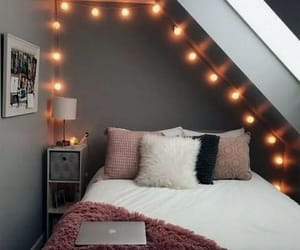 light, home, and bedroom image
