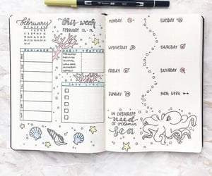 bullet journal, journal, and study image