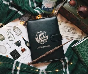 slytherin, harry potter, and book image