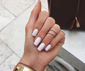 nails, white, and style image