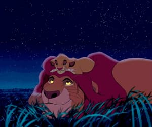 disney, simba, and mufasa image