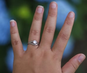 bride, goals, and engagement ring image