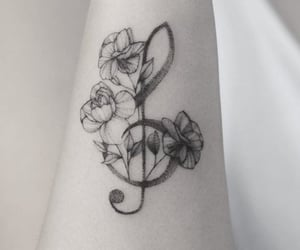 aesthetic, black and white, and flowers image