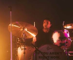 alex gaskarth, all time low, and drummer image