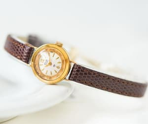 etsy, tiny watch lady, and gold woman watch image