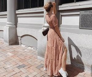 blogger, dress, and handbag image