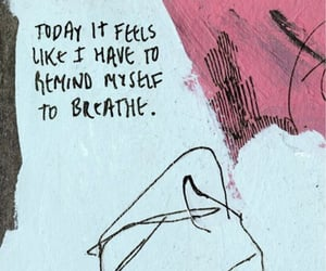 quotes, art, and breathe image