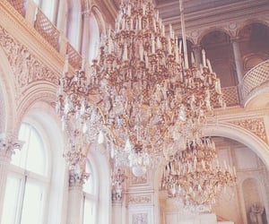 banquet, chandelier, and gold image