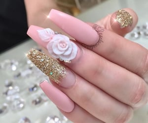 gold, cute, and nails image