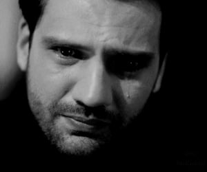 alone, black and white, and Turkish image