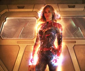 gif, brie larson, and Marvel image