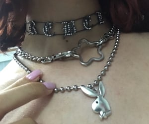 aesthetic, alternative, and necklace image