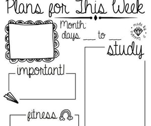 study, school, and plan image
