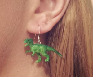 dinosaur, diy, and earrings image