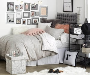 dorm, room, and bedroom image