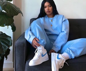 blue, fashion, and nike image