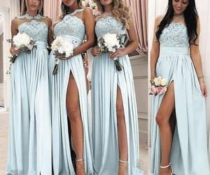 long bridesmaid dress, bridesmaid dresses 2020, and cheap bridesmaid dress image