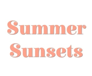mountains, summer, and sunset image