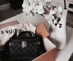 bag, flowers, and fashion image