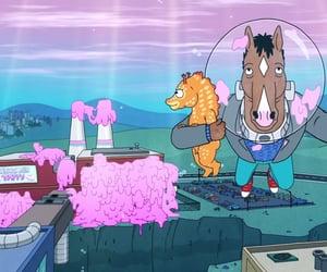 gum, sea horse, and bojack horseman image