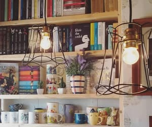 bedroom, books, and bookshelf image