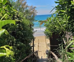 beach, bluesea, and beautiful image