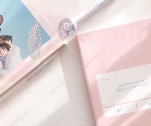 aesthetic, pink, and blue image
