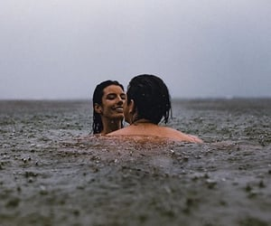 couple, girl, and sea image
